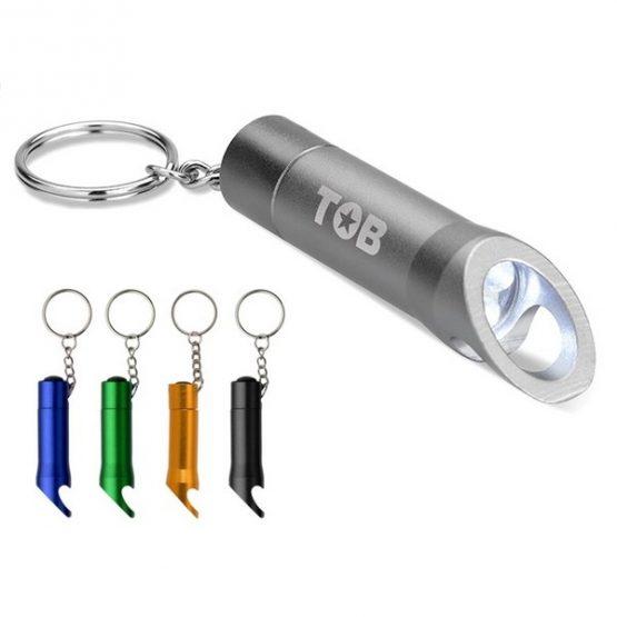 Gadget ed Idee aziendali personalizzabili portachiavi Apribottiglia con 3 luci led