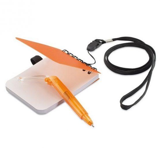 Gadget aziendali Notes con penna e laccio da collo personalizzabili