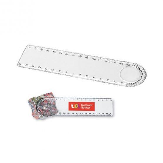 Gadget aziendali righello con lente personalizzabili