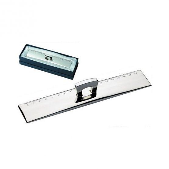 Gadget aziendali righello in silver plated personalizzabili