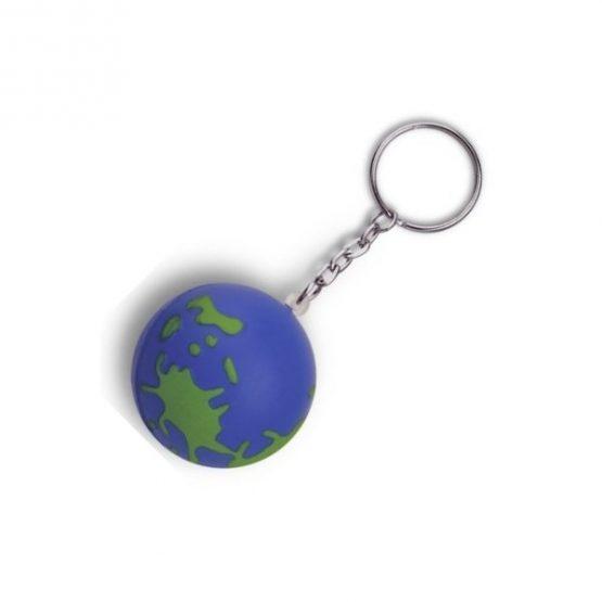 Gadget aziendali portachiavi globo antistress personalizzabili