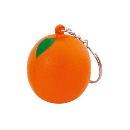 Gadget aziendali portachiavi arancia antistress personalizzabili