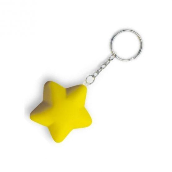 Gadget aziendali portachiavi stella antistress personalizzabili