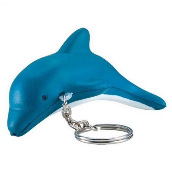 Gadget aziendali portachiavi delfino antistress personalizzabili