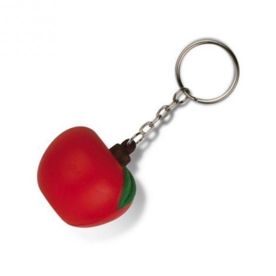 Gadget aziendali portachiavi mela antistress personalizzabili