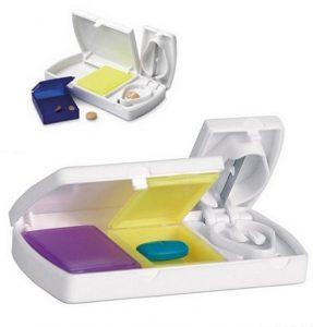 Gadget Aziendale Personalizzabile Portapillole da viaggio con lametta taglia pastiglie