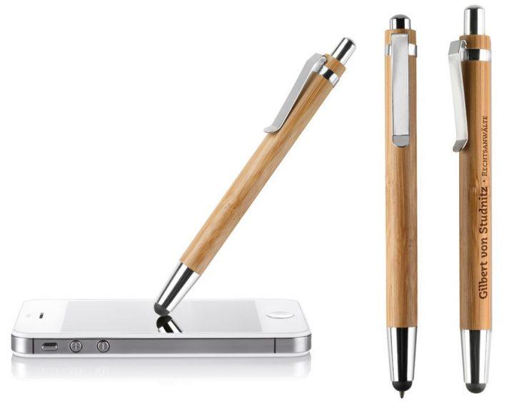 Gadget ed Idee aziendali personalizzabili penne in bambù touchscreen
