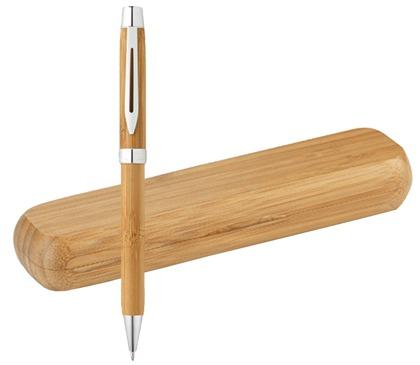 Gadget ed Idee aziendali personalizzabili penne in bambù con astuccio