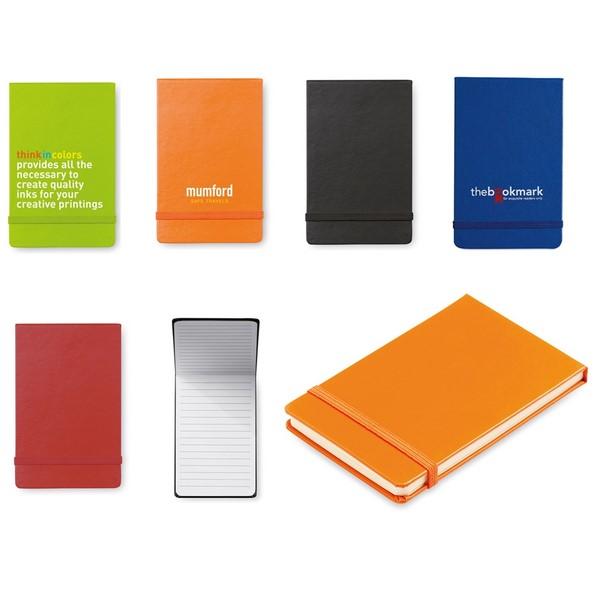 Gadget aziendali notes verticale con elastico personalizzati