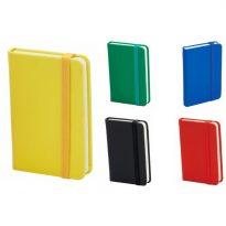 Gadget aziendali mini notes con elastico personalizzati