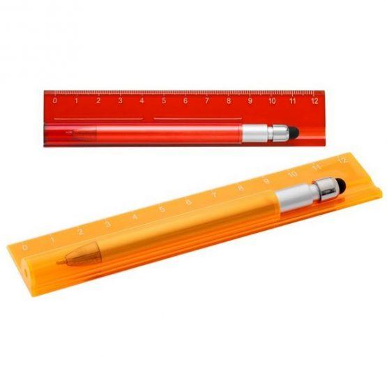 Gadget aziendali righello con penna personalizzabili