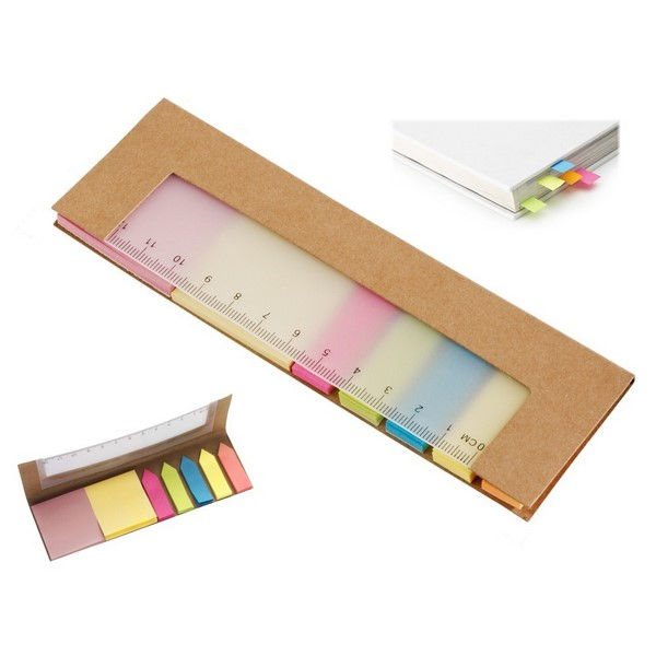 Gadget aziendali righello post-it personalizzabili