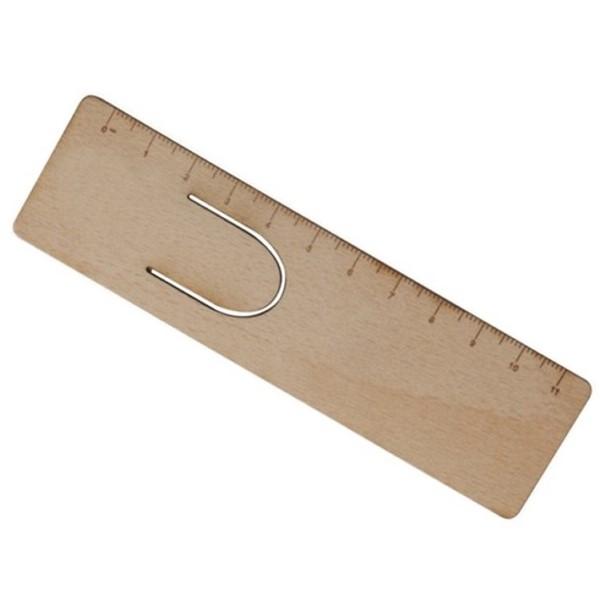 Gadget aziendali righello segnalibro in legno personalizzabili