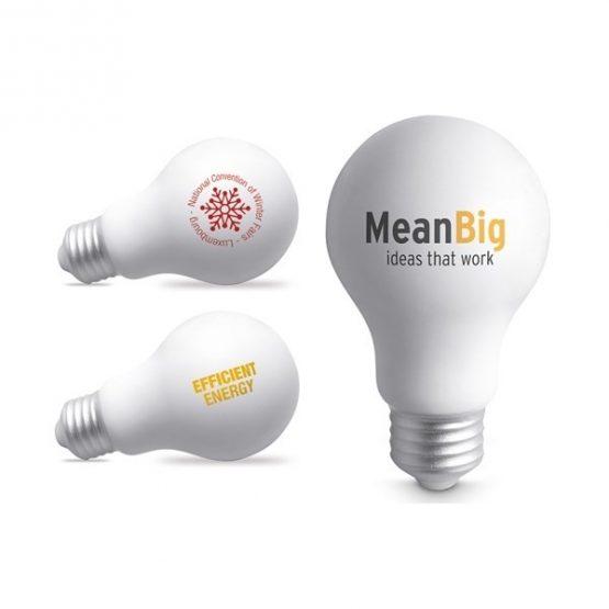 Gadget aziendali lampadina antistress personalizzabili