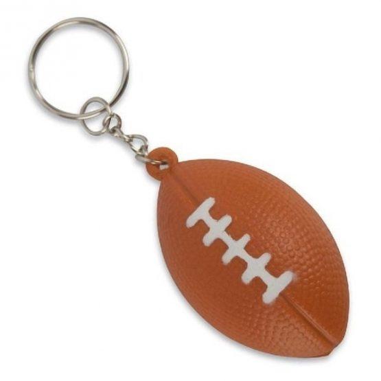 Gadget aziendali portachiavi palla da rugby antistress personalizzabili