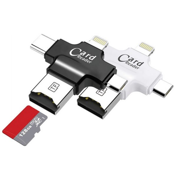 Gadget Aziendale Card Reader 4 in 1 Lettore Schede Micro SDTF