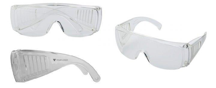 art. 1909B occhiali pubblicitari trasparenti di protezione personalizzabili con logo gradito gadget promozionale per la sicurezza sul lavoro