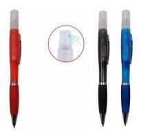 art. 3901B Penna a sfera spry dotato di pratico serbatoio contenente gel disinfettante personalizzabile con logo utile gadget promozionale